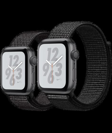 arrepentirse Estoy orgulloso Resistencia  Space Gray Aluminum Case with Black Nike Sport Loop | SERIES 4 - EdealsPro